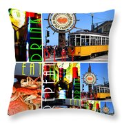 Eat Drink Play Repeat San Francisco 20140713 Vertical V2 Throw Pillow