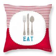 Eat Throw Pillow