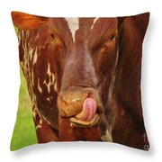 Eat More Greens Throw Pillow