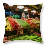 Eat Your Fruits And Vegetables Throw Pillow