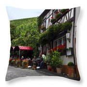 Eating By Vineyard Throw Pillow