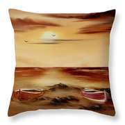 Ebb Tide And Stranded Throw Pillow by Cynthia Adams