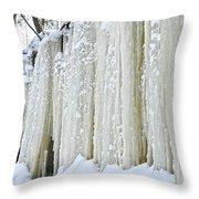 Eben Ice Caves Throw Pillow