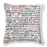 Ebers Papyrus, C1550 B.c Throw Pillow