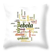 Ebola Throw Pillow