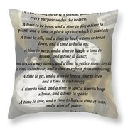 Ecc 3 1-8 To Every Thing There Is A Season Throw Pillow by Susan Savad