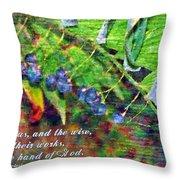 Ecclesiastes 9 1 Throw Pillow
