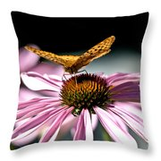 Echinacea And Friend Throw Pillow
