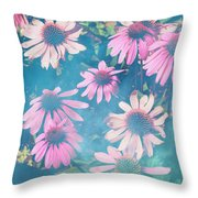 Echinacea Flowers Throw Pillow
