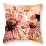 Echinacea Impressions  Throw Pillow