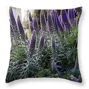 Echium And Tower Throw Pillow