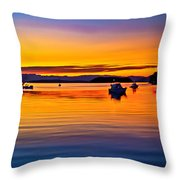 Echo Bay Sunset Throw Pillow