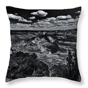 Echo Park From The Ridge Black And White Throw Pillow