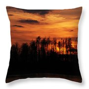 Echoes Of The Fire Throw Pillow