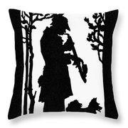 Eckstein Man And Dog Throw Pillow