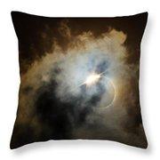 Eclipse Diamond Ring Throw Pillow