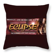 Eclipse Faux Movie Banner Throw Pillow