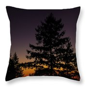 Eclipse In Yosemite Throw Pillow