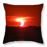 Eclipse Over Marion Reservoir 2 Throw Pillow