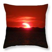 Eclipse Over Marion Reservoir 3 Throw Pillow