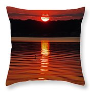 Eclipse Sunset Throw Pillow