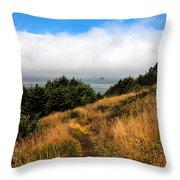 Ecola Trails Throw Pillow