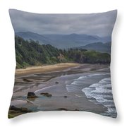 Ecola View Throw Pillow