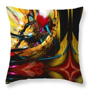 Ecstasy In Leather And Pearl Throw Pillow