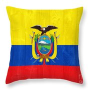 Ecuador Flag Throw Pillow