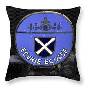 Ecurie Ecosse Badge Throw Pillow