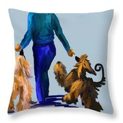 Eddie Dancing With Dogs Throw Pillow