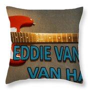 Eddie Van Halen Guitar Throw Pillow