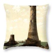 Eddystone Lighthouse Plymouth England Throw Pillow