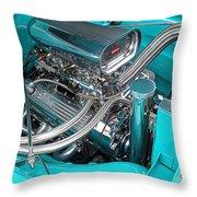 Edelbrock In A Chevy 3100 Hotrod Throw Pillow