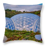 Eden Project Biomes Throw Pillow