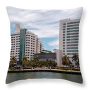 Eden Roc Hotel Throw Pillow