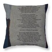Eden's Womb Poem Collage Throw Pillow