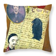 Edgar Allen Poe Throw Pillow