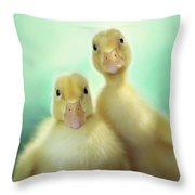 Edgar And Sally Throw Pillow by Amy Tyler
