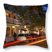 Edgartown Nightlife Throw Pillow
