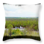 Edge Of Mississippi River Throw Pillow