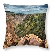 Edge Of The Black Canyon Throw Pillow