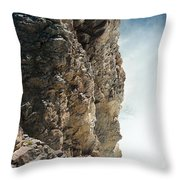 Edge Of The Upper Falls Throw Pillow