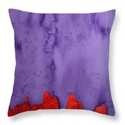 Edge Of The West Original Painting Throw Pillow