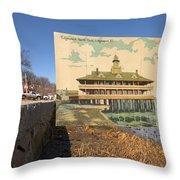 Edgewood Yacht Club In Cranston Ri Throw Pillow