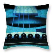 Edgy Abstract Eclectic Guitar 16 Throw Pillow by Andee Design