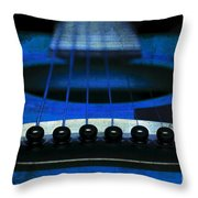 Edgy Abstract Eclectic Guitar 18 Throw Pillow by Andee Design