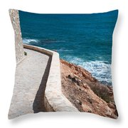 Edgy Pathway Throw Pillow