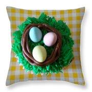 Edible Bird's Nest Throw Pillow