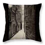Edinburgh Alley Sepia Throw Pillow
